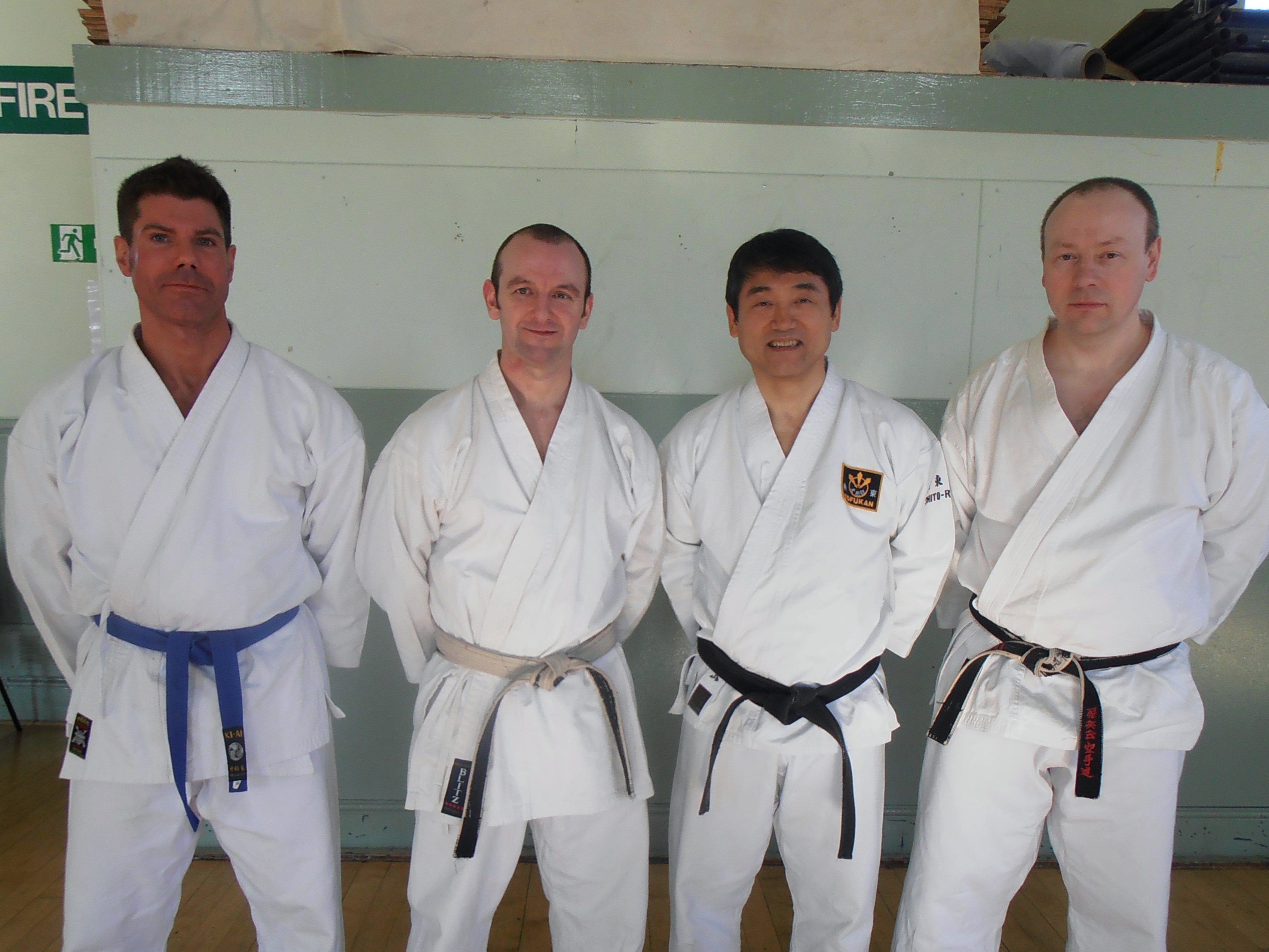 Anthony Slack & Paul Wareing with Sensei Tomiyama