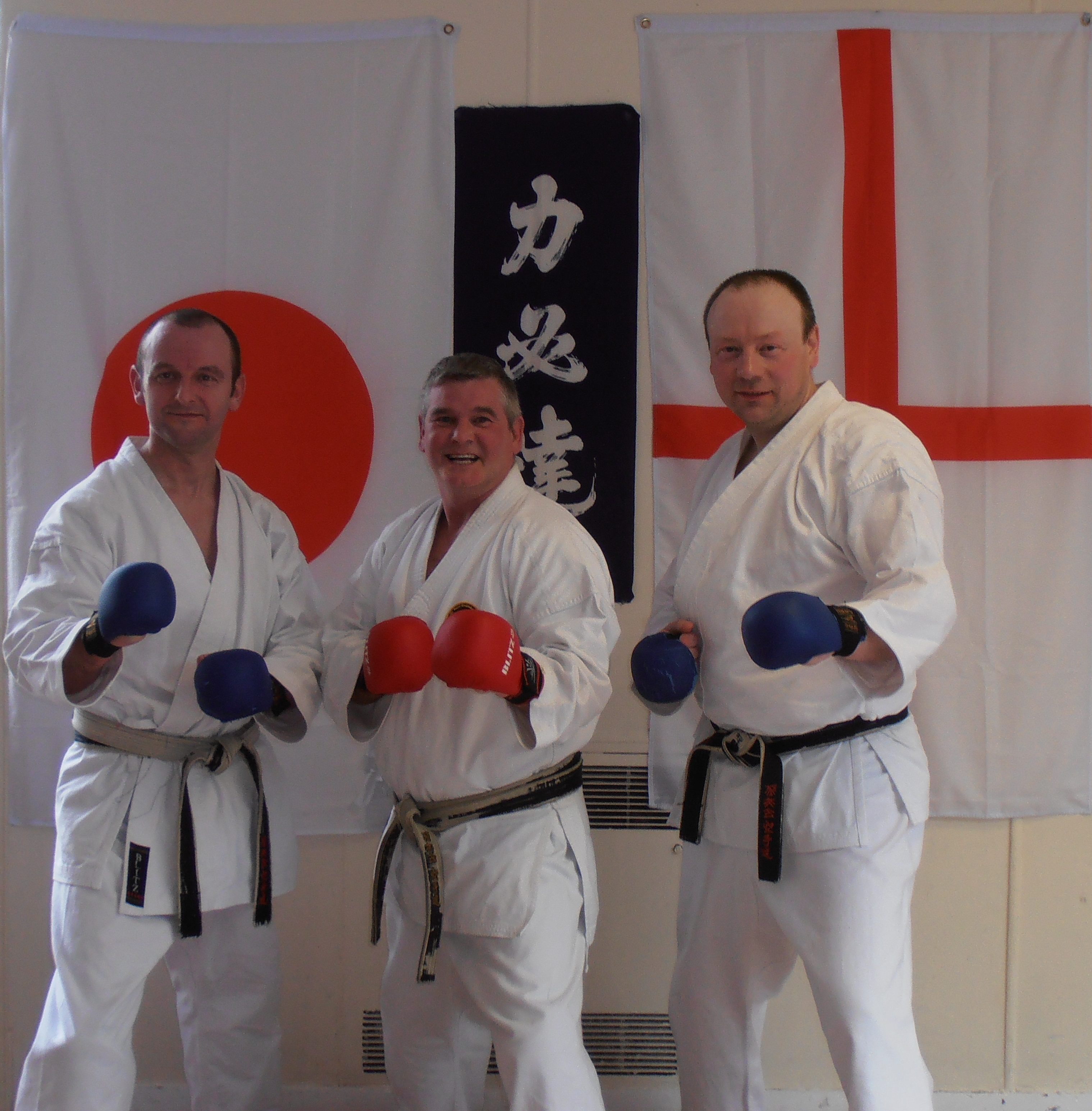 Anthony Slack & Paul Wareing Pitured with Shihan Kevin Barlow